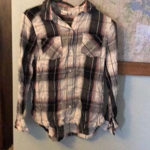 Girls flannel shirt.  Miss. Size 16